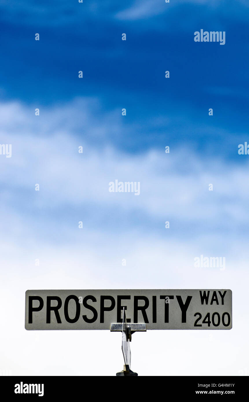 Prosperity way in San Leandro California USA - Stock Image