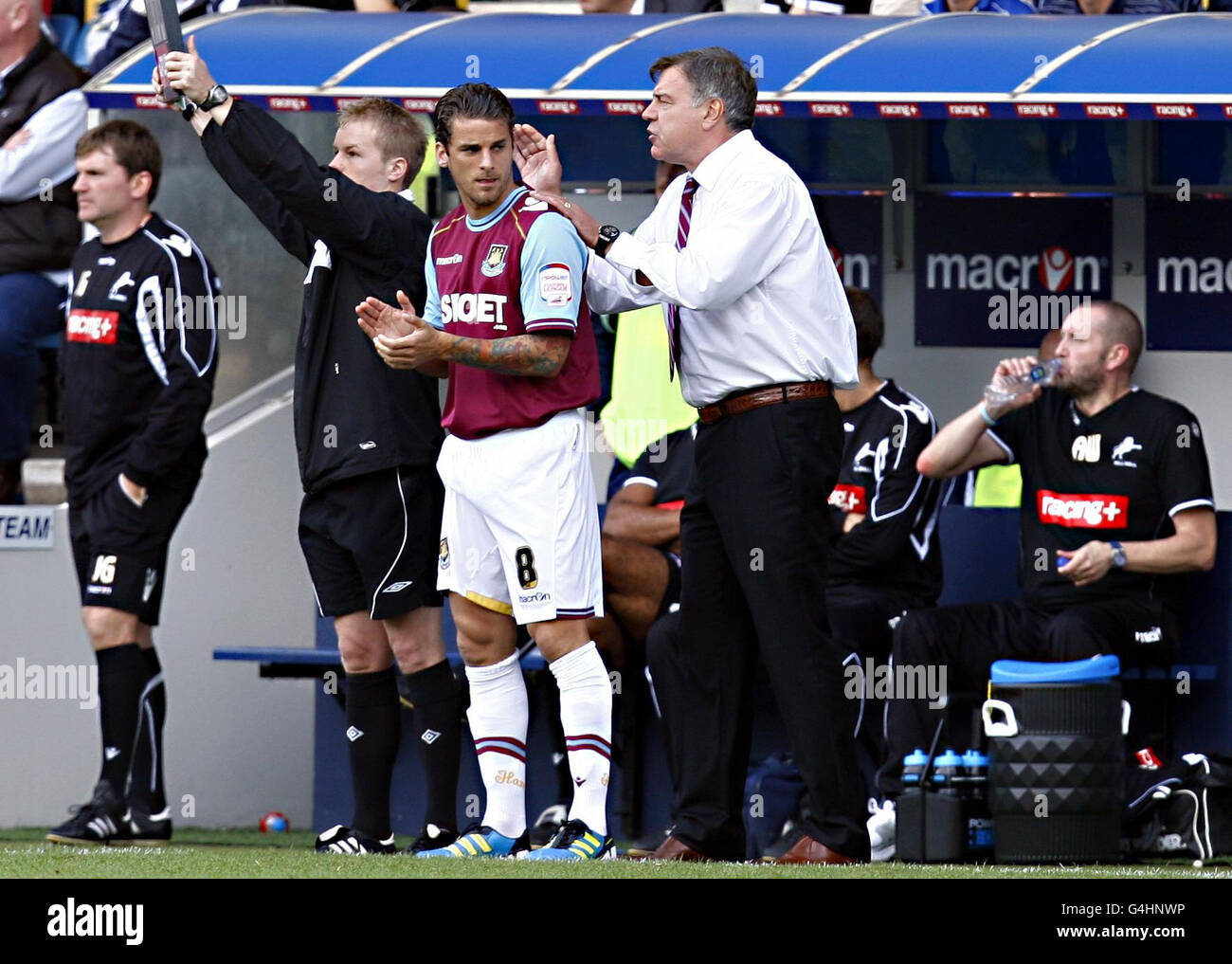 Soccer - npower Football League Championship - Millwall v West Ham United - The Den - Stock Image