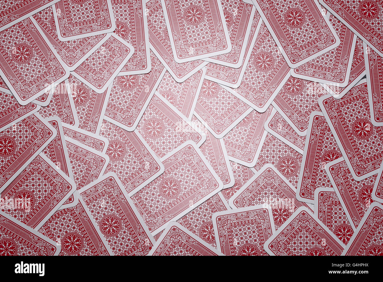 Reverse side of playing cards - Stock Image