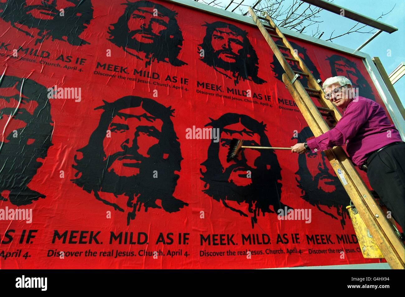 Jesus (Che Guevara) Billboard - Stock Image