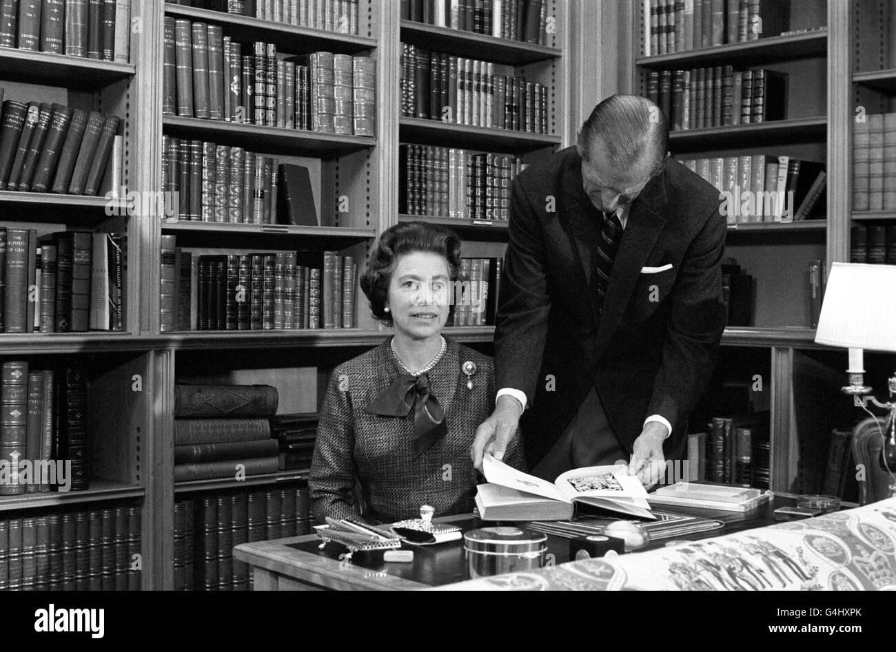 Royalty - Queen Elizabeth II Silver Jubilee Stock Photo
