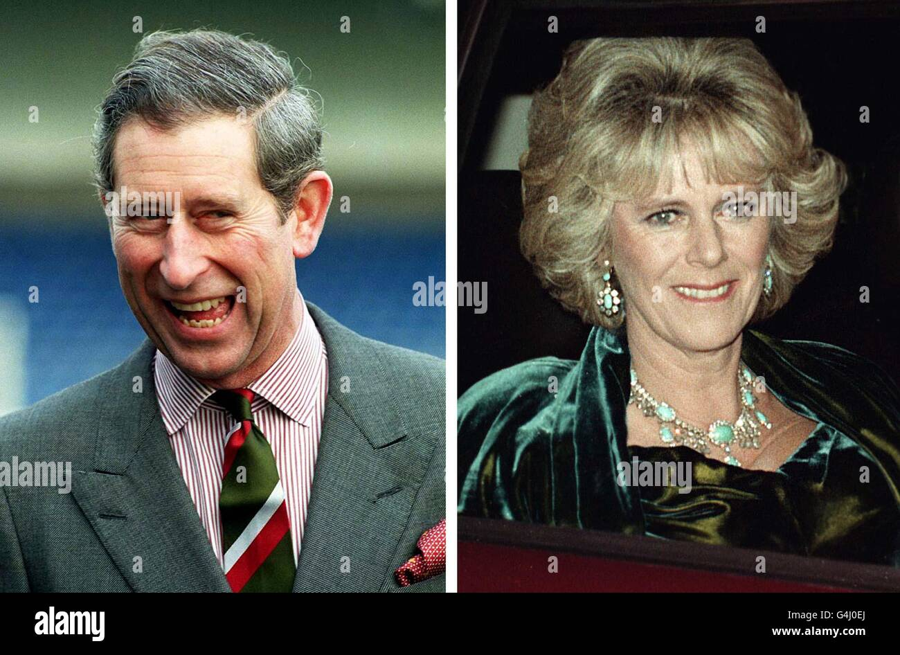CHARLES & Camilla composite Stock Photo