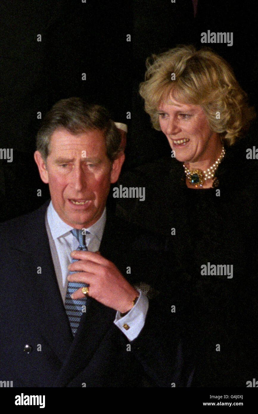 Prince of Wales & Camilla - 50th birthday Dinner-Dance - London Stock Photo