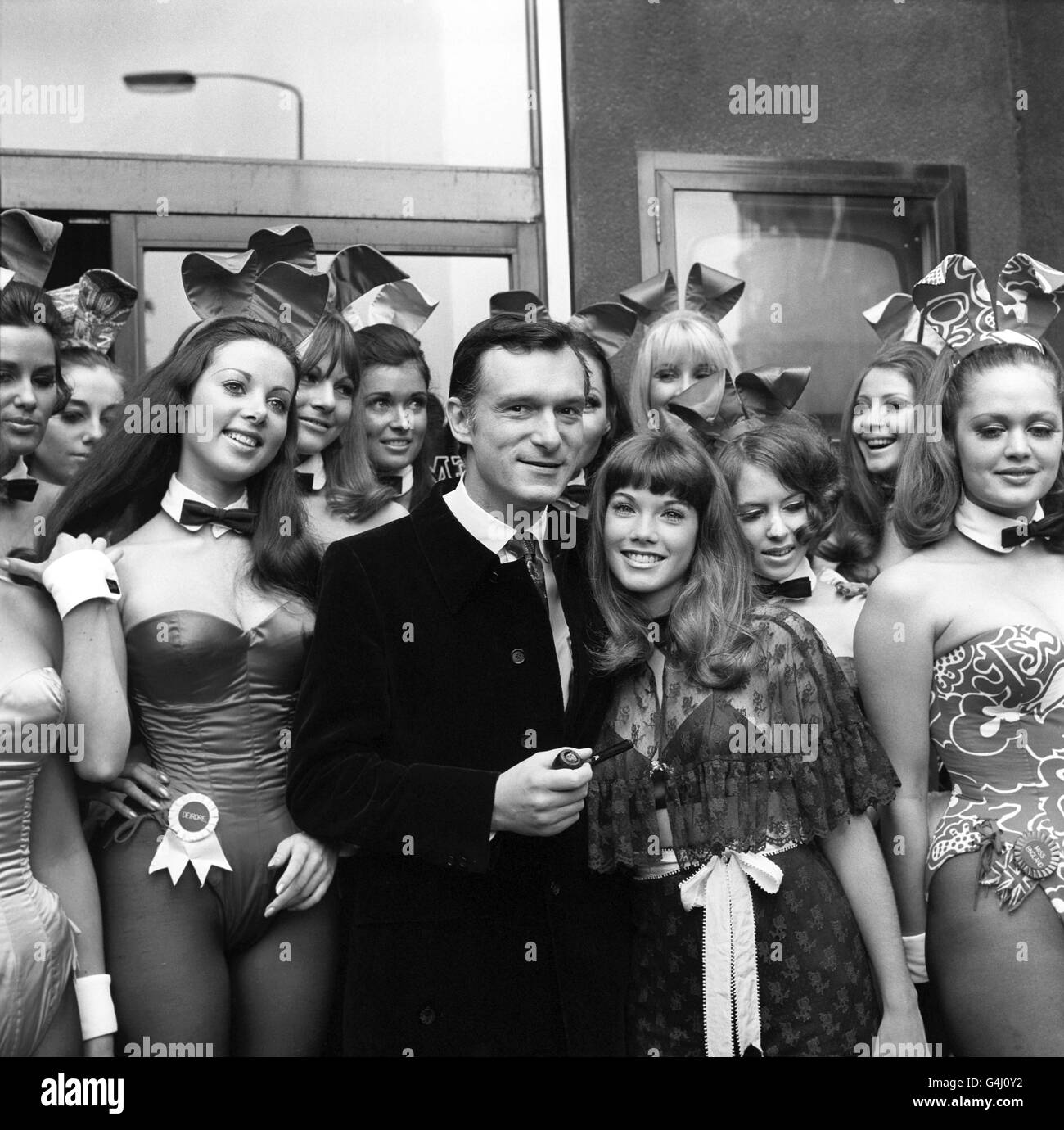 Playboy bunnies/Hefner Stock Photo