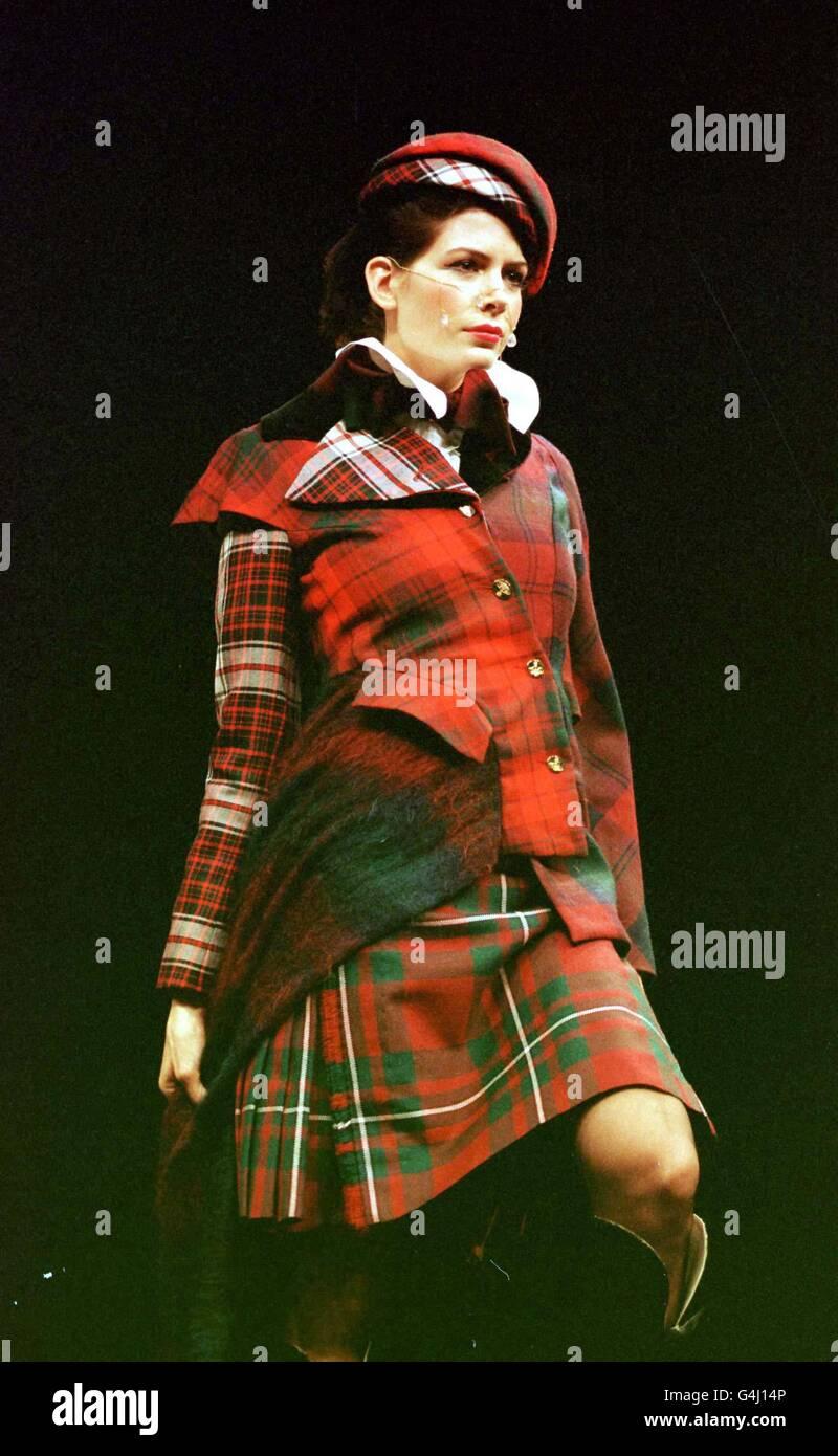 c765038397a Tartan model: Westwood fashion 2 Stock Photo: 106116886 - Alamy