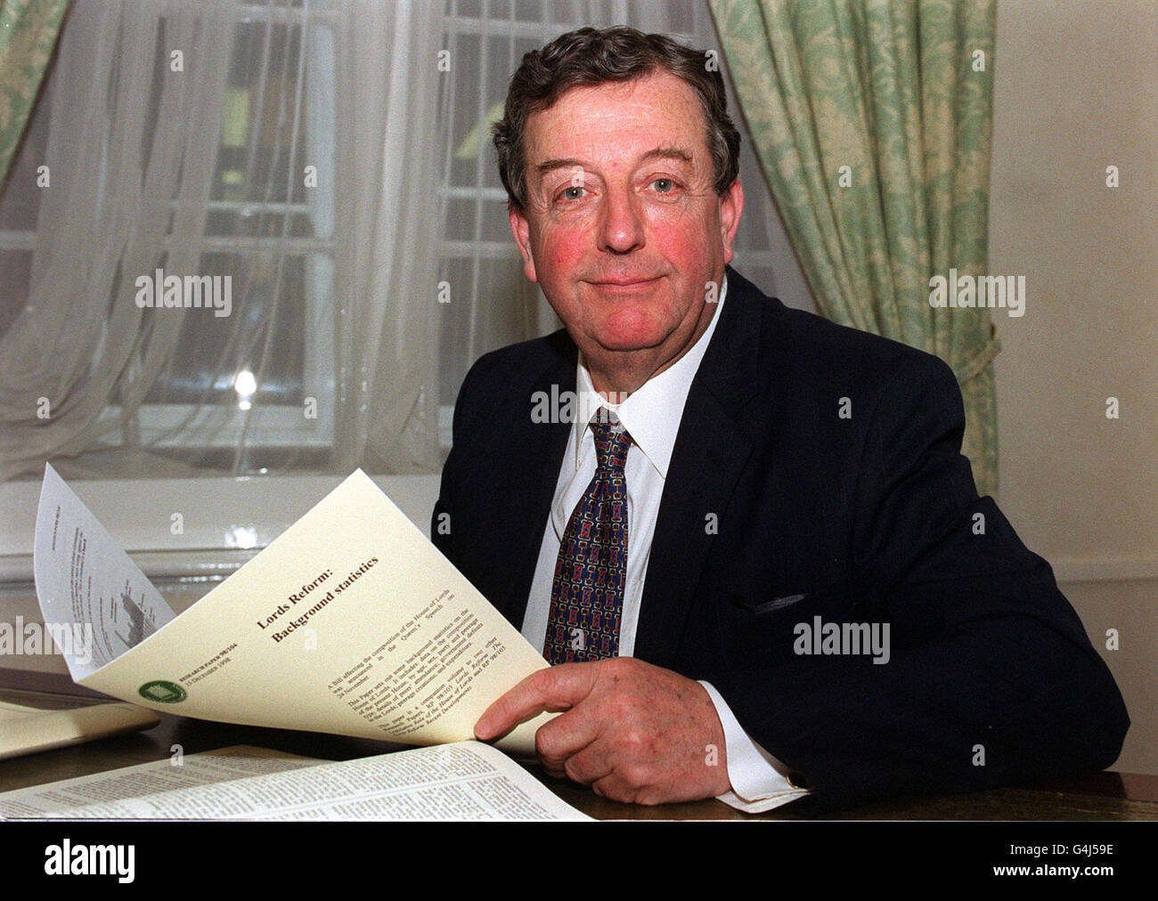 Lord Wakeham/House of Lords - Stock Image