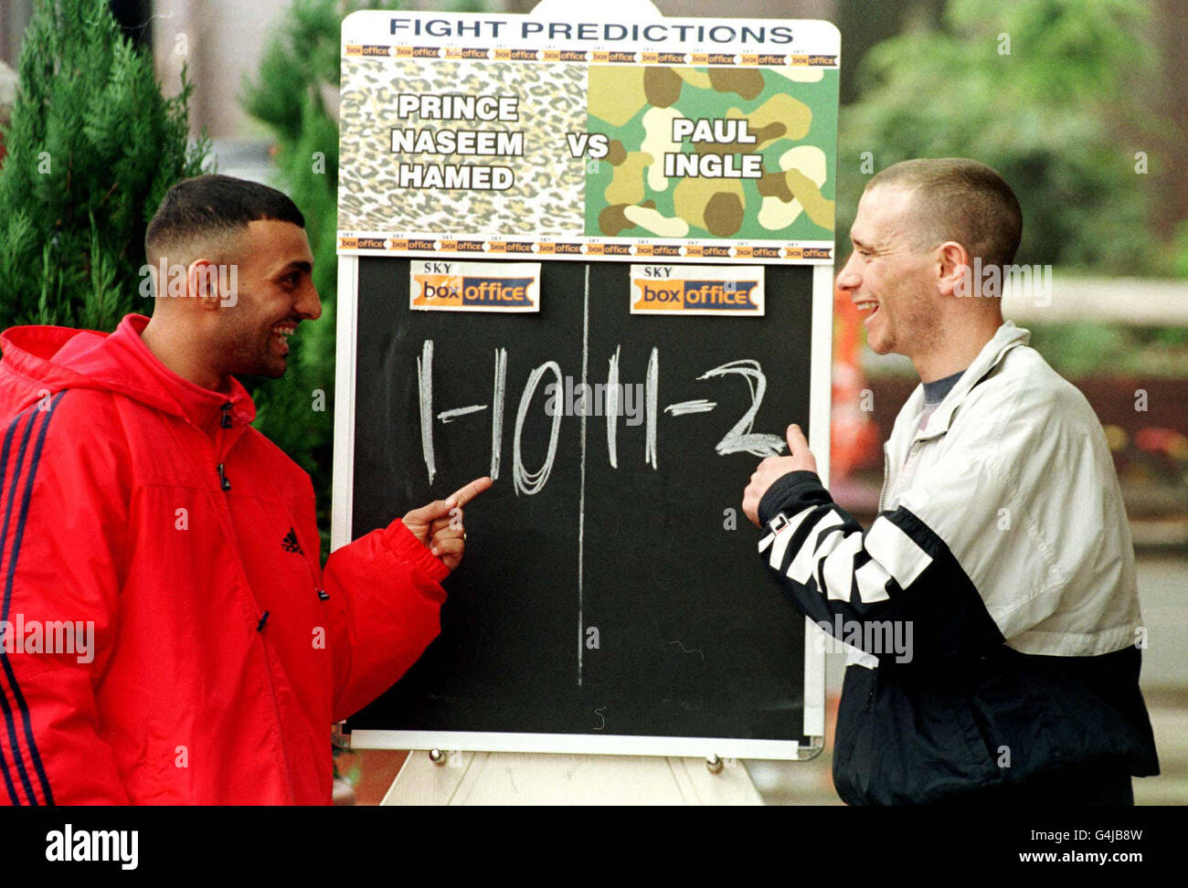 Naseem and Ingle pre-fight odds - Stock Image