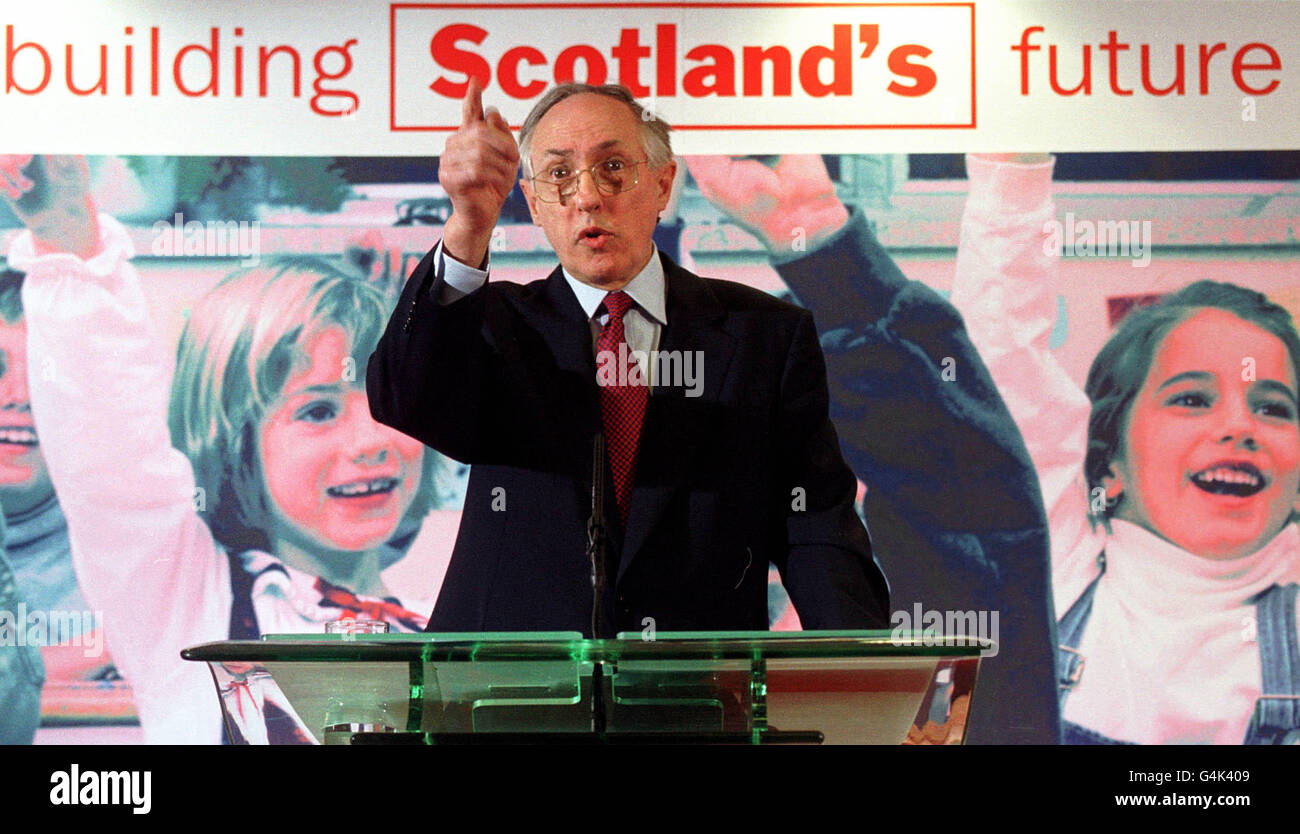 Dewar/Labour Scottish Manifesto - Stock Image