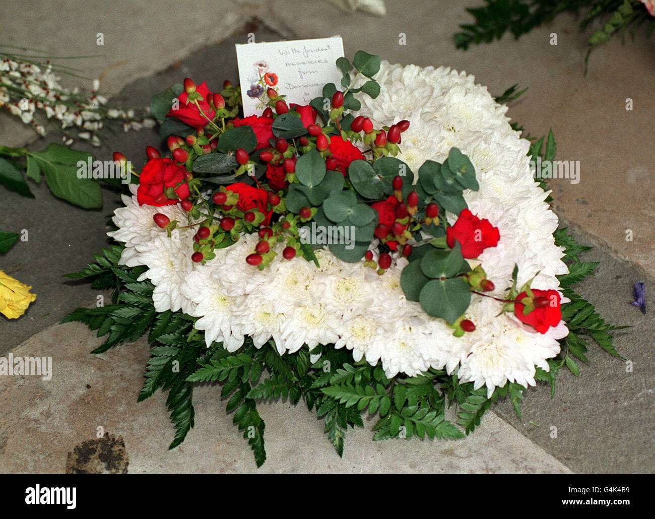 Bart funeral/Donovan wreath - Stock Image