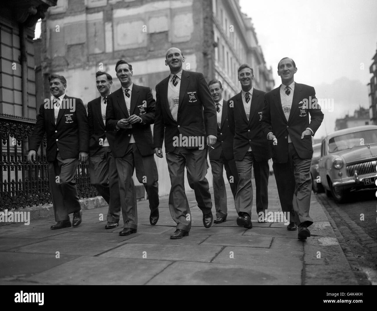 Soccer - Melbourne Olympics Games 1956 - Great Britain and Northern Ireland Football Team - London - Stock Image