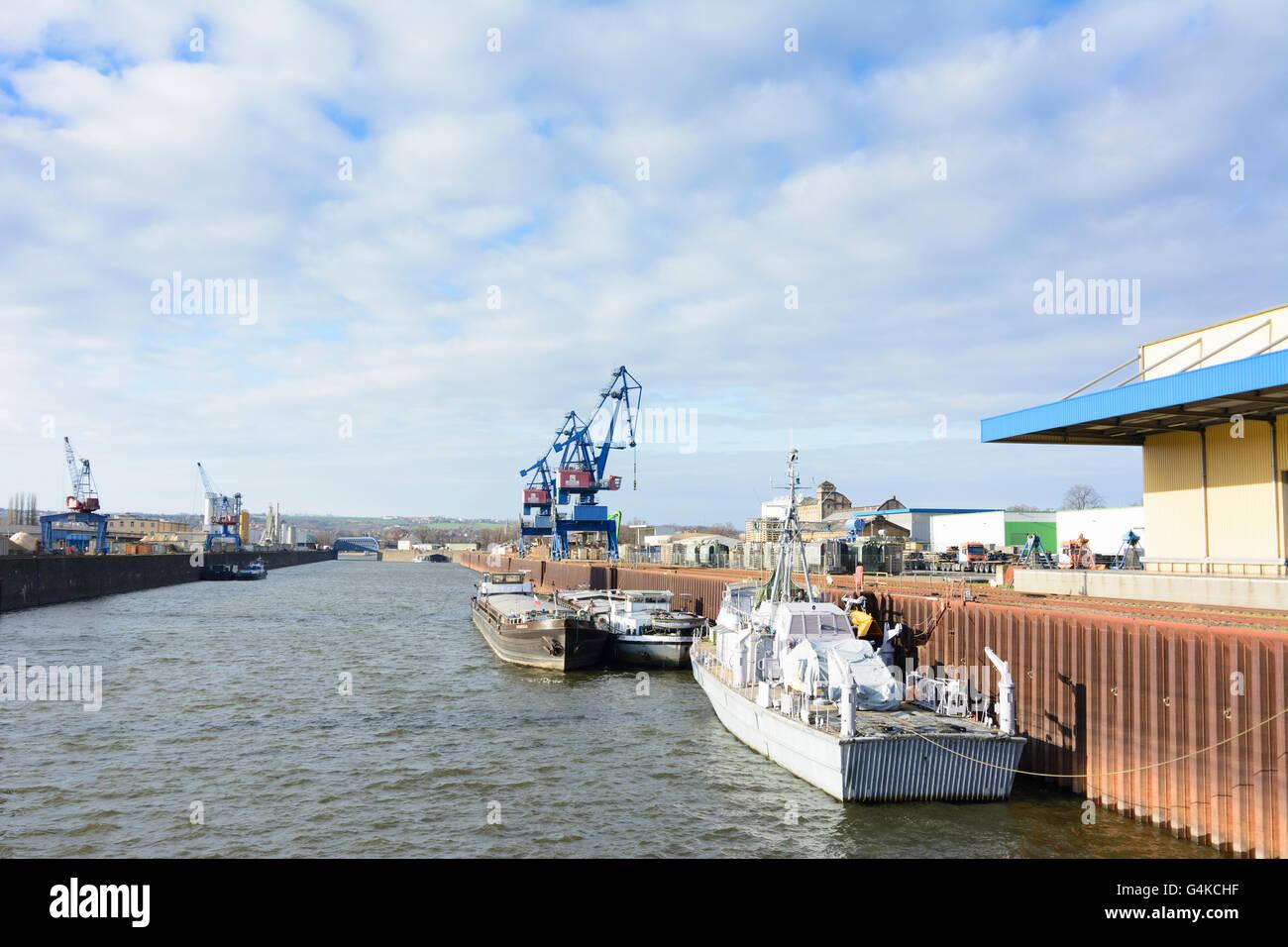 Harbour Dresden : Museum ship inland minesweeper ' Atlantis ', Germany, Sachsen, Saxony, , Dresden - Stock Image