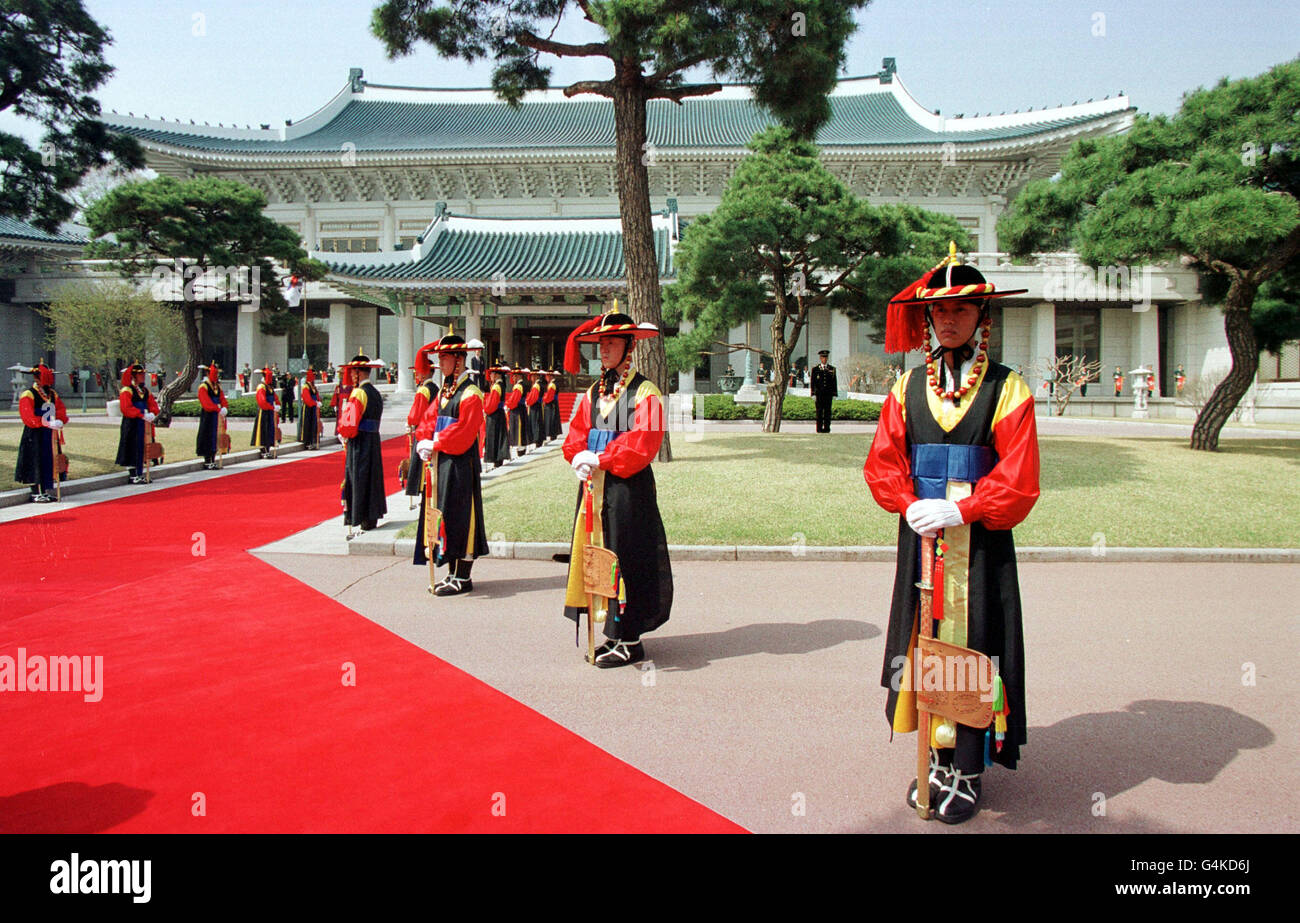 Royalty - Queen Elizabeth II State Visit to South Korea - Stock Image