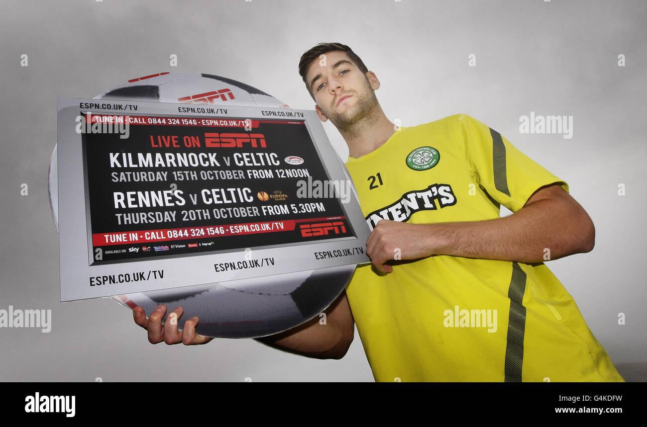 Soccer - Celtic Promote ESPN match - Lennoxtown Stock Photo
