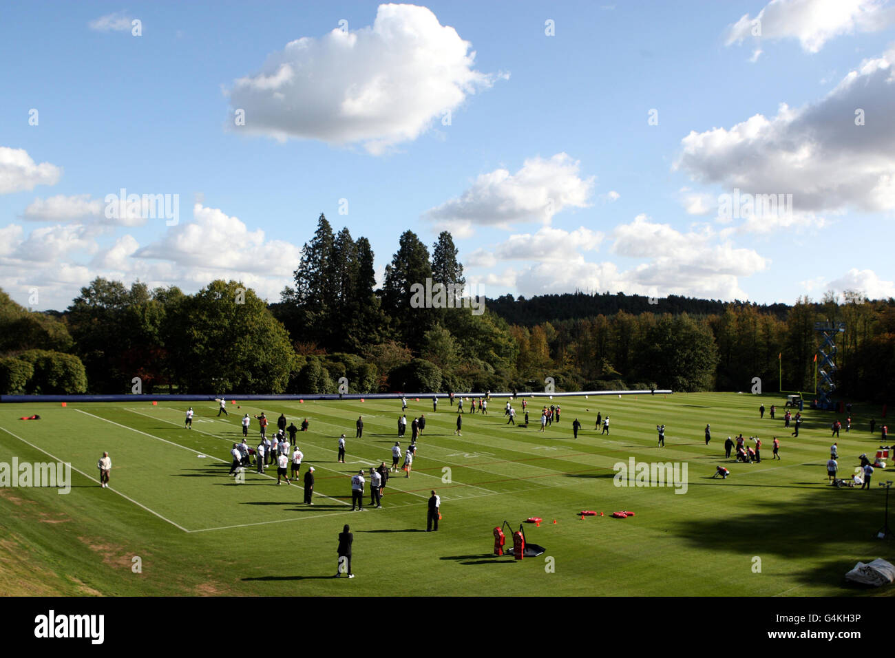 American Football - International Series - Tampa Bay Buccaneers v Chicago Bears - Tampa Bay Buccaneers Training Stock Photo