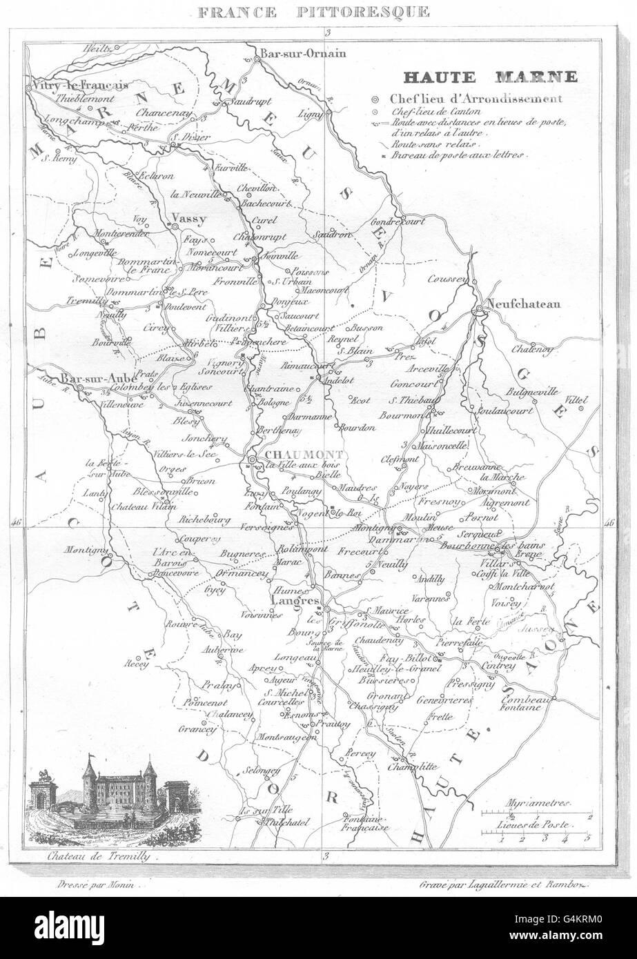 Haute-saÔne haute- Saone 1878 Old Antique Vintage Map Plan Chart