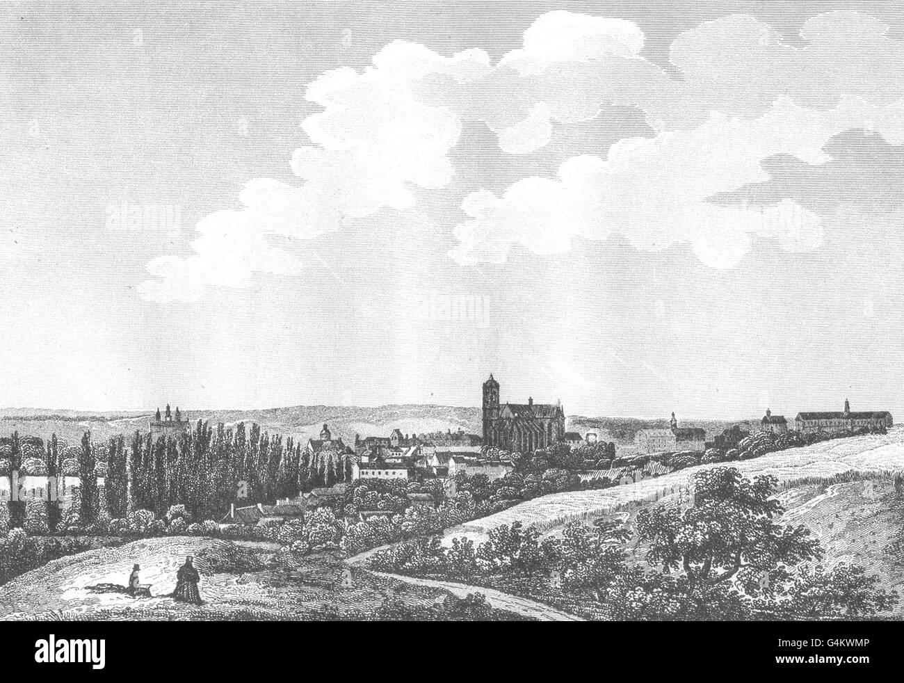 SARTHE: Le Mans, antique print 1835 - Stock Image