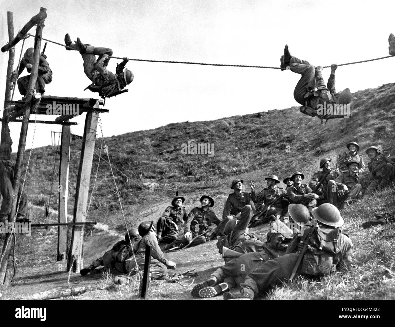 World War Two - British Empire - The Home Front - British Army - Training - 1942 - Stock Image