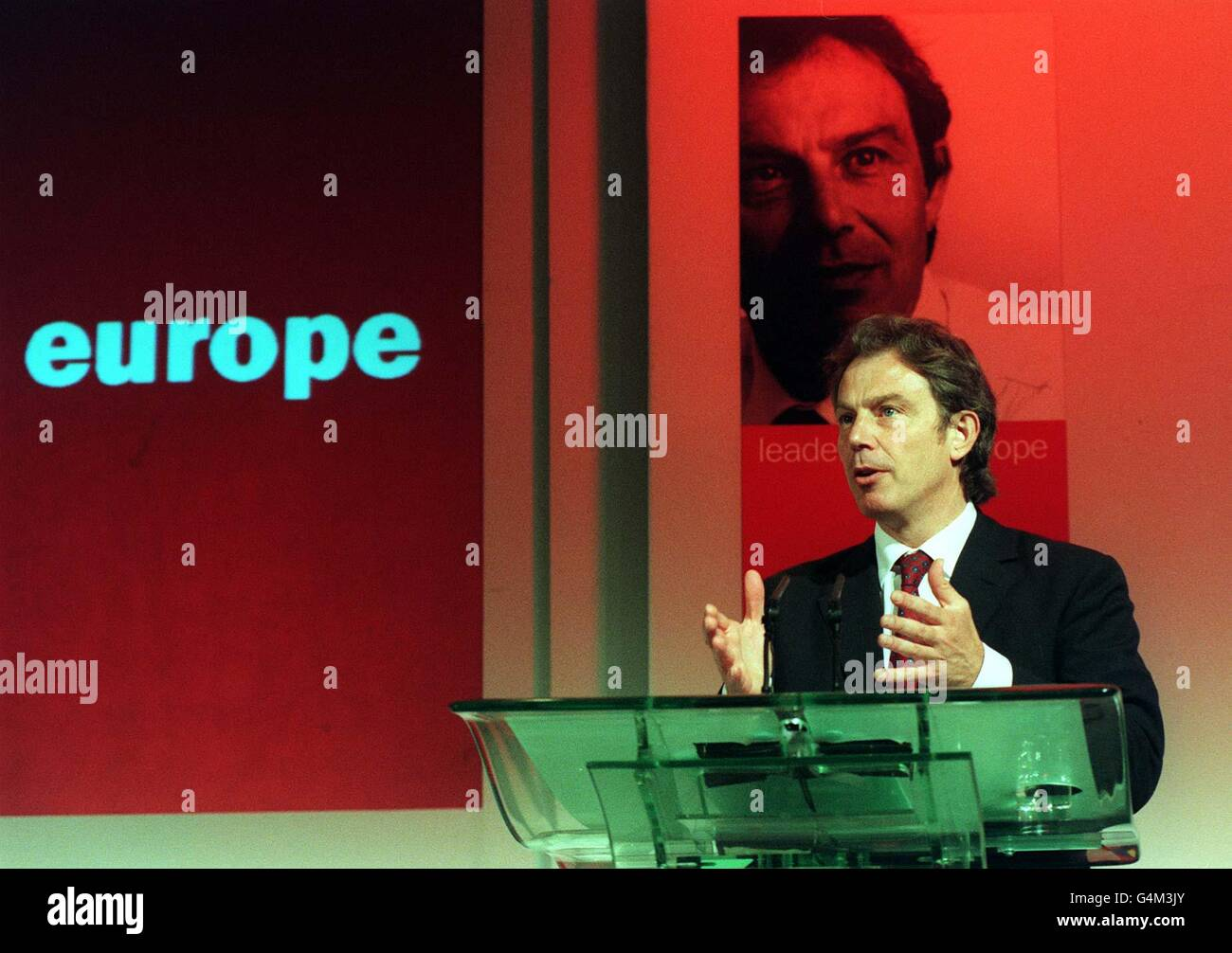 Eurpean Elections Press Conference - Millbank - Stock Image