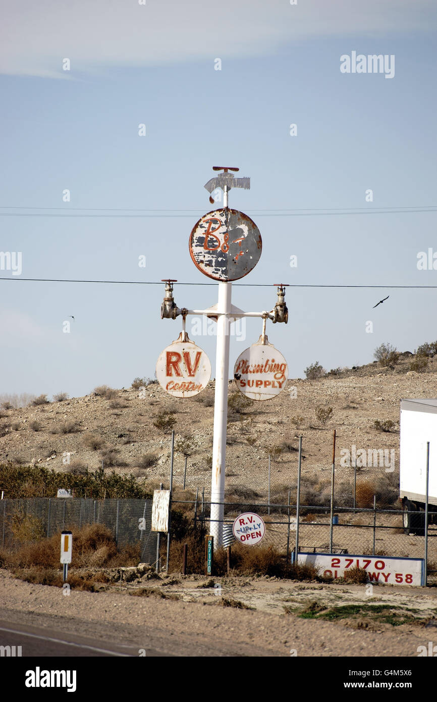 Vintage Plumbing sign Stock Photo: 106164526 - Alamy