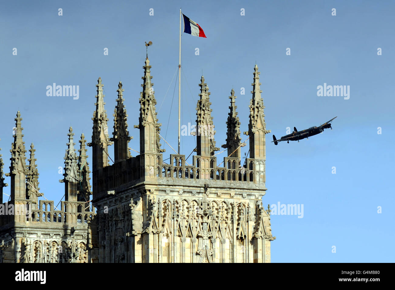 WWII French airmen commemorated - Stock Image