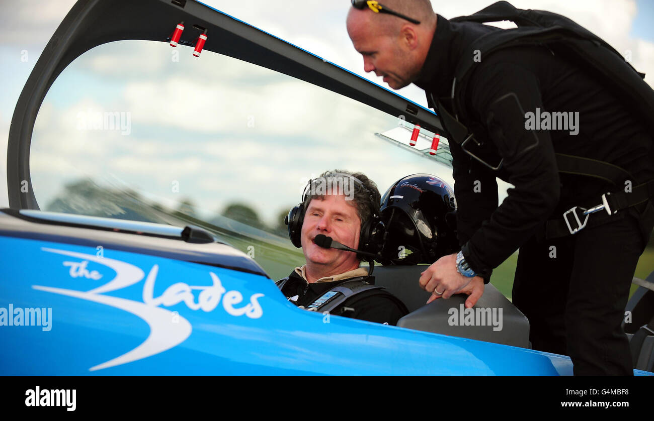 Flying record attempt - Stock Image