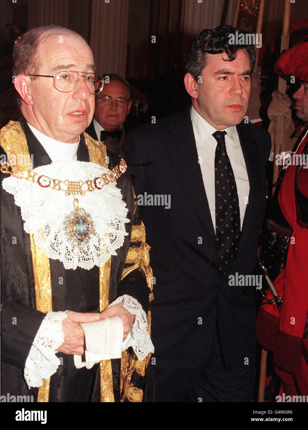 Lord Mayors dinner/Brown - Stock Image