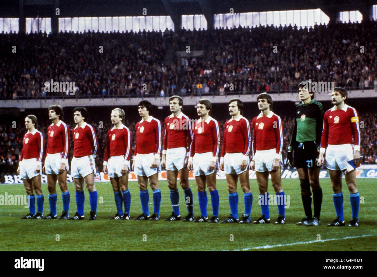 Soccer - Czechoslovakia - Stock Image