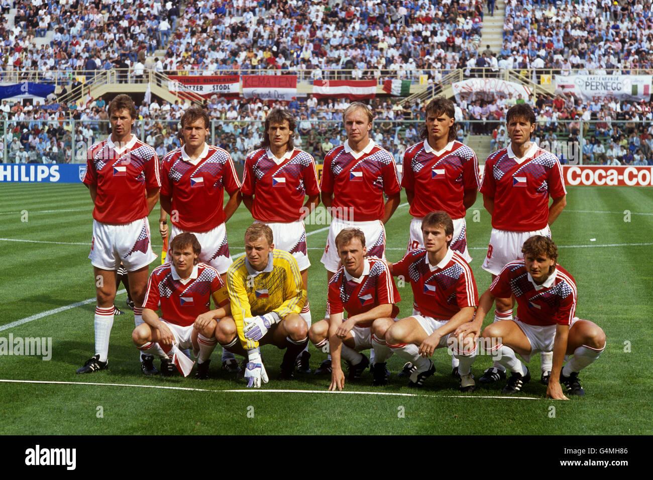Soccer - FIFA World Cup Italia 90 - Group A - Austria v Czechoslovakia - Stadio Comunale, Florence - Stock Image