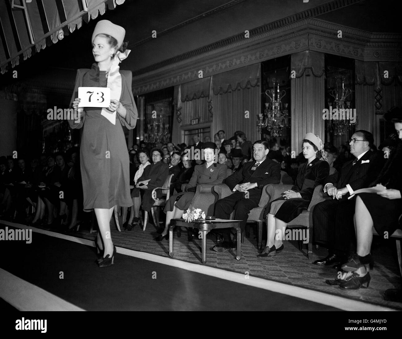 Fashion - Associated Millinery Designers of London Show - Dorchester Hotel - Stock Image