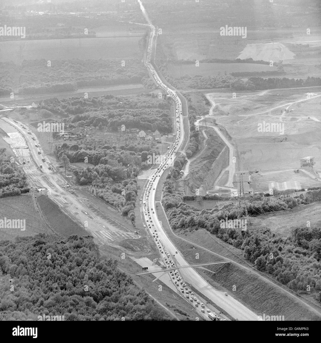 British Motoring - Traffic - Kent - Stock Image