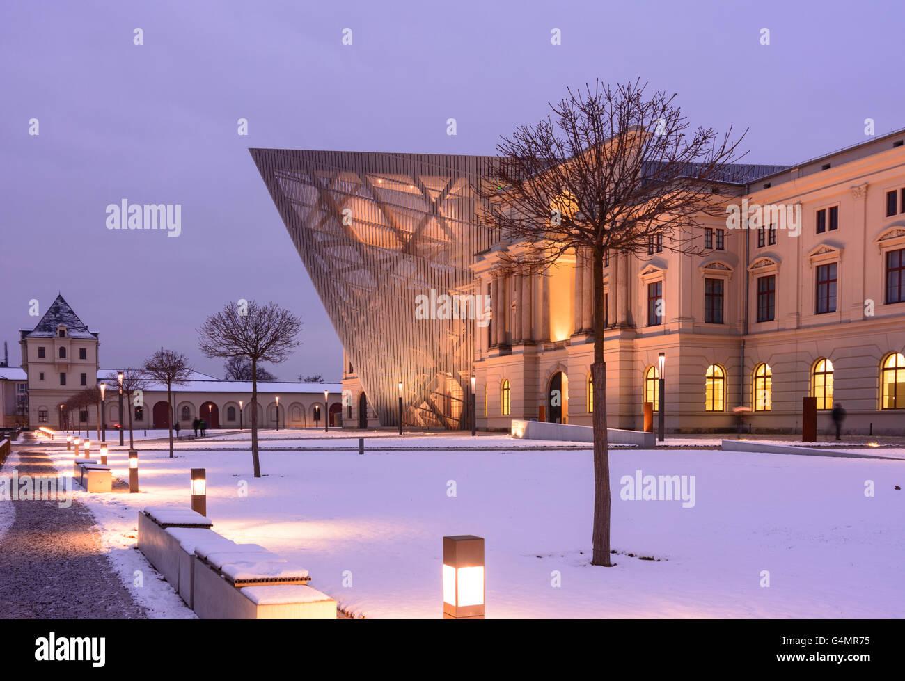 German Army Bundeswehr Military History Museum, Germany, Sachsen, Saxony, , Dresden - Stock Image