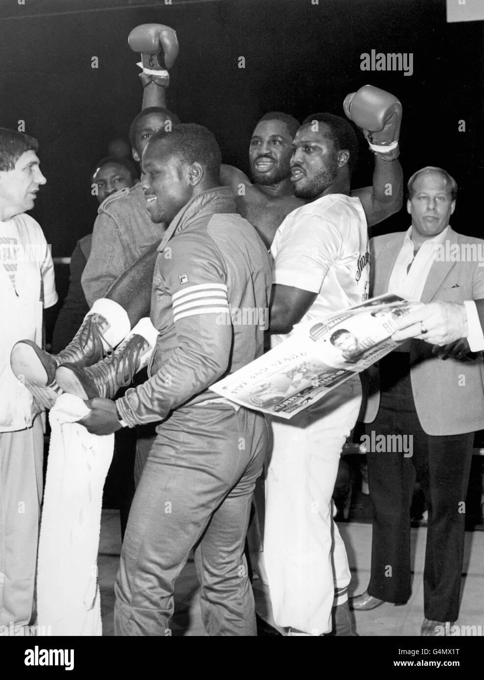 Boxing - Heavyweight - Marvis Frazier v Funso Banjo - Alexandra Pavilion, London - Stock Image