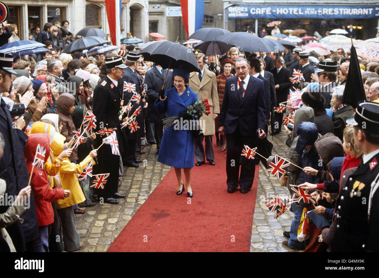 Royalty - Queen Elizabeth II State Visit to Luxembourg - Stock Image
