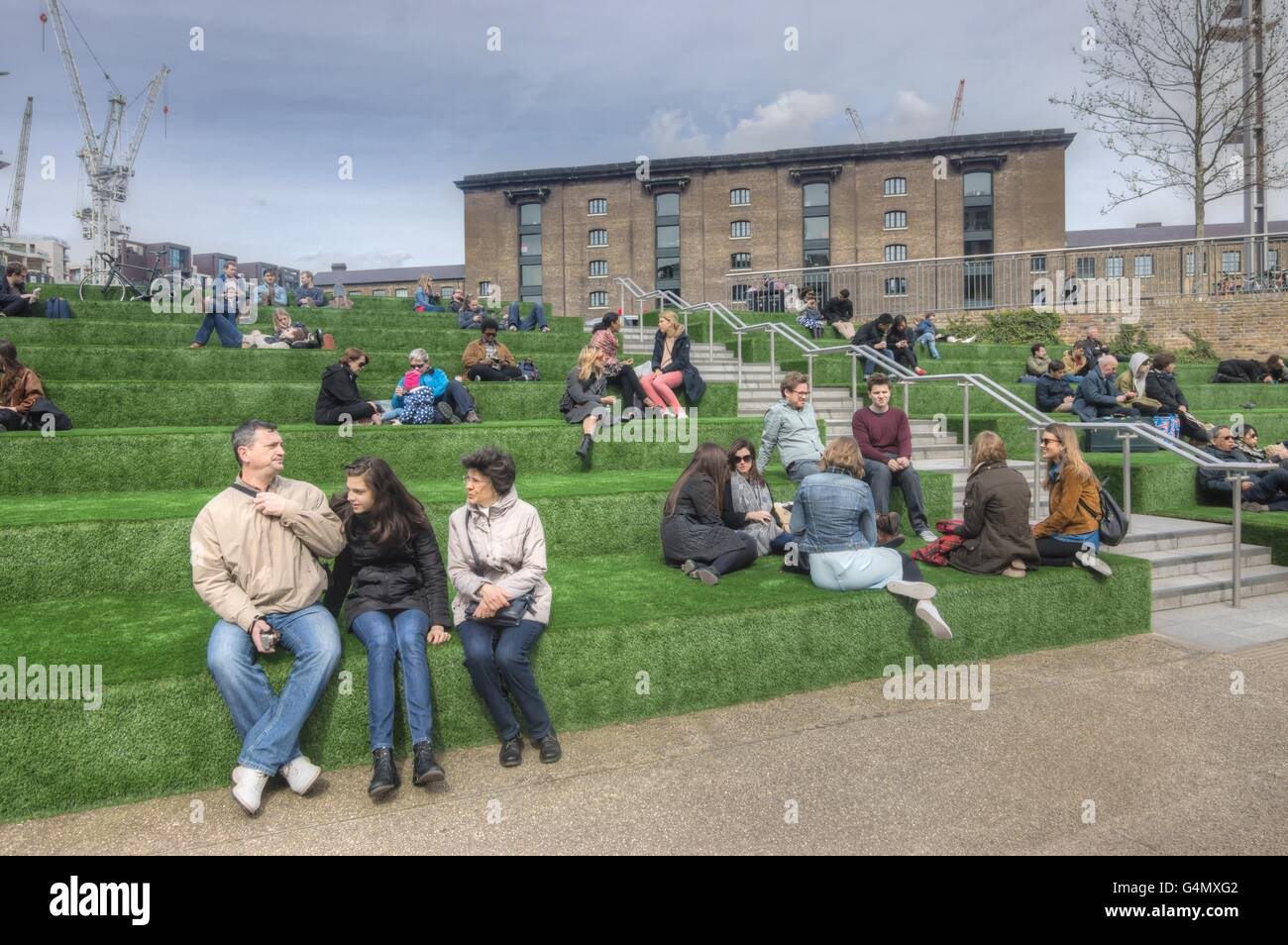 Granary Square, King's Cross - Stock Image