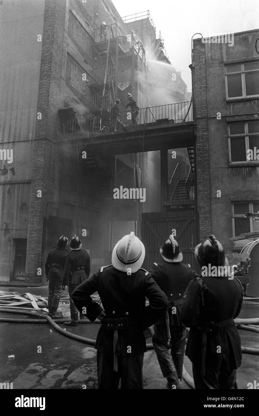 Disasters and Accidents - Tooley Street Fire - London - Stock Image