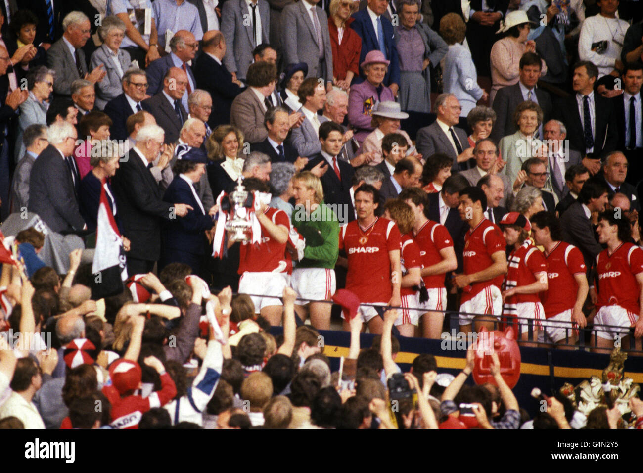 Soccer - FA Cup Final - Everton v Manchester United - Wembley Stadium - Stock Image