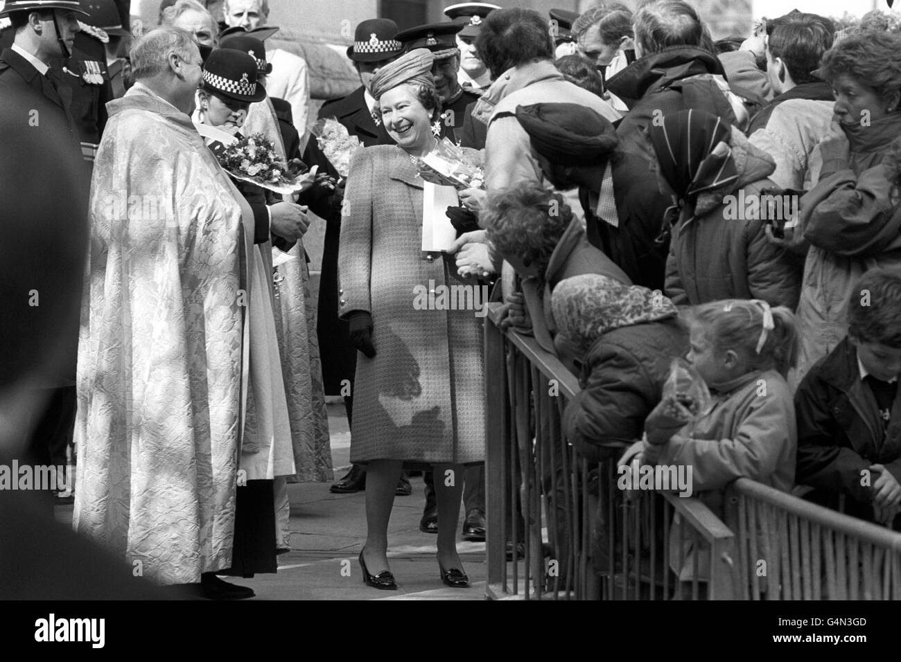 Royalty - Maundy Ceremony - St Philip's Cathedral, Birmingham - Stock Image