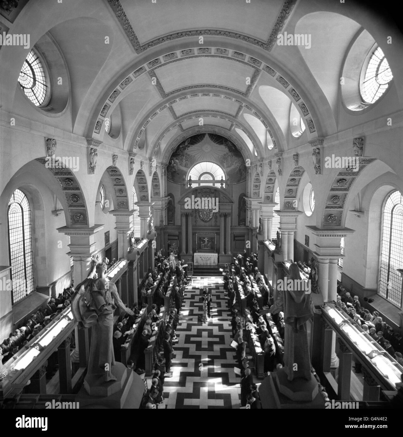 Royalty - Press Association Centenary - St. Bride's Church, Fleet Street, London - Stock Image