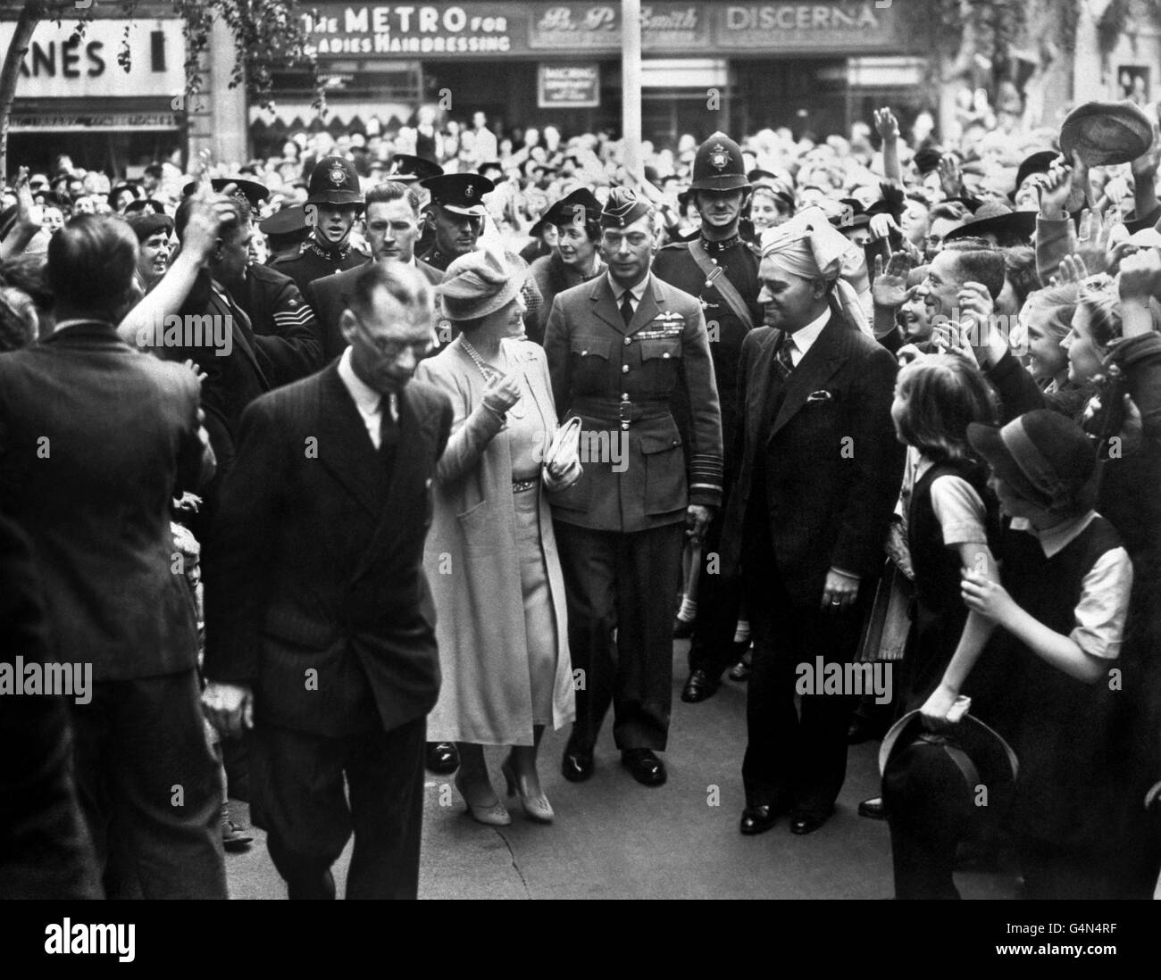 World War Two - UK & Commonwealth - The Home Front - British Royal Family - London - 1941 - Stock Image