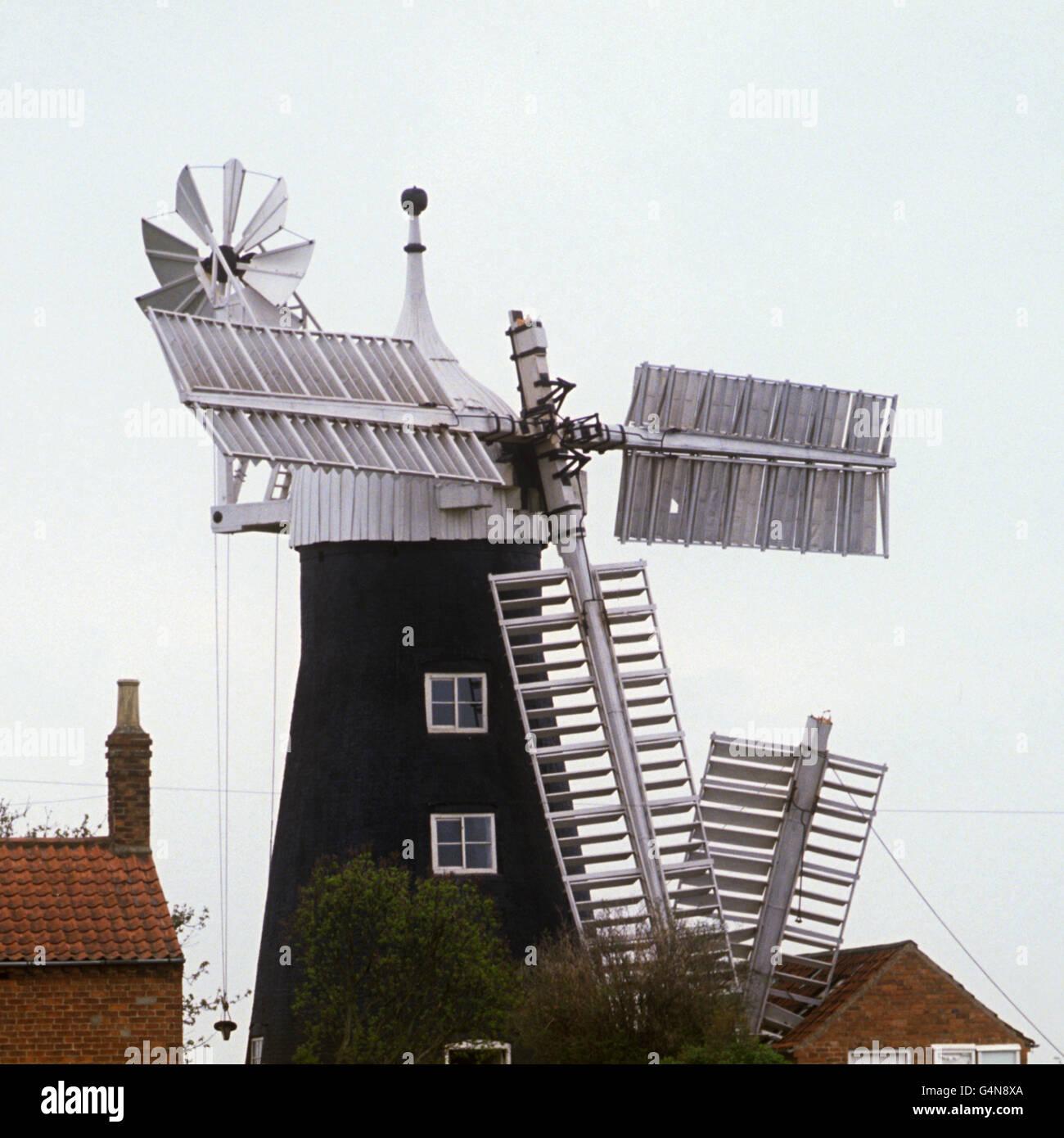 Buildings & Landmarks - North Leverton Windmill - Retford, Nottinghamshire Stock Photo