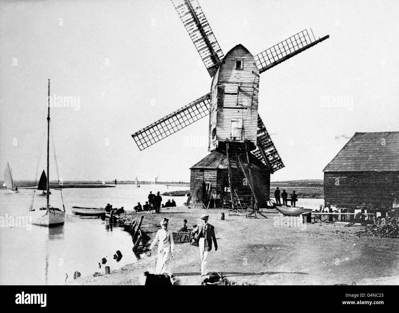 Buildings and Landmarks - Windmills - Walton-on-the-Naze - Stock Image