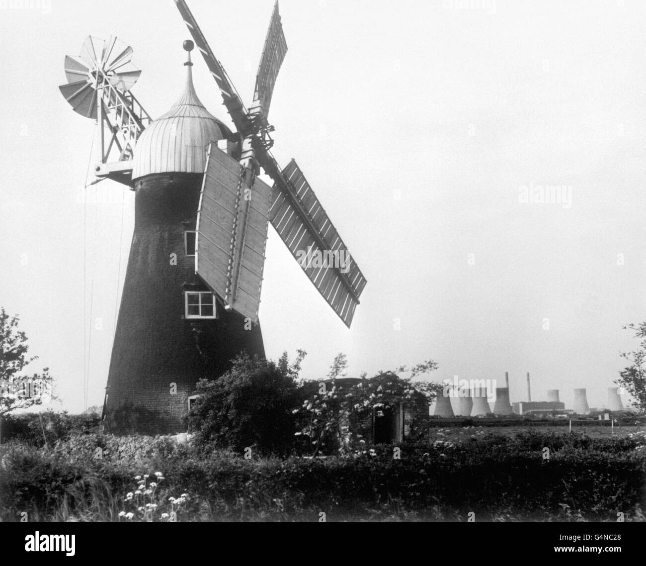 Buildings and Landmarks - Windmills - North Leverton Stock Photo