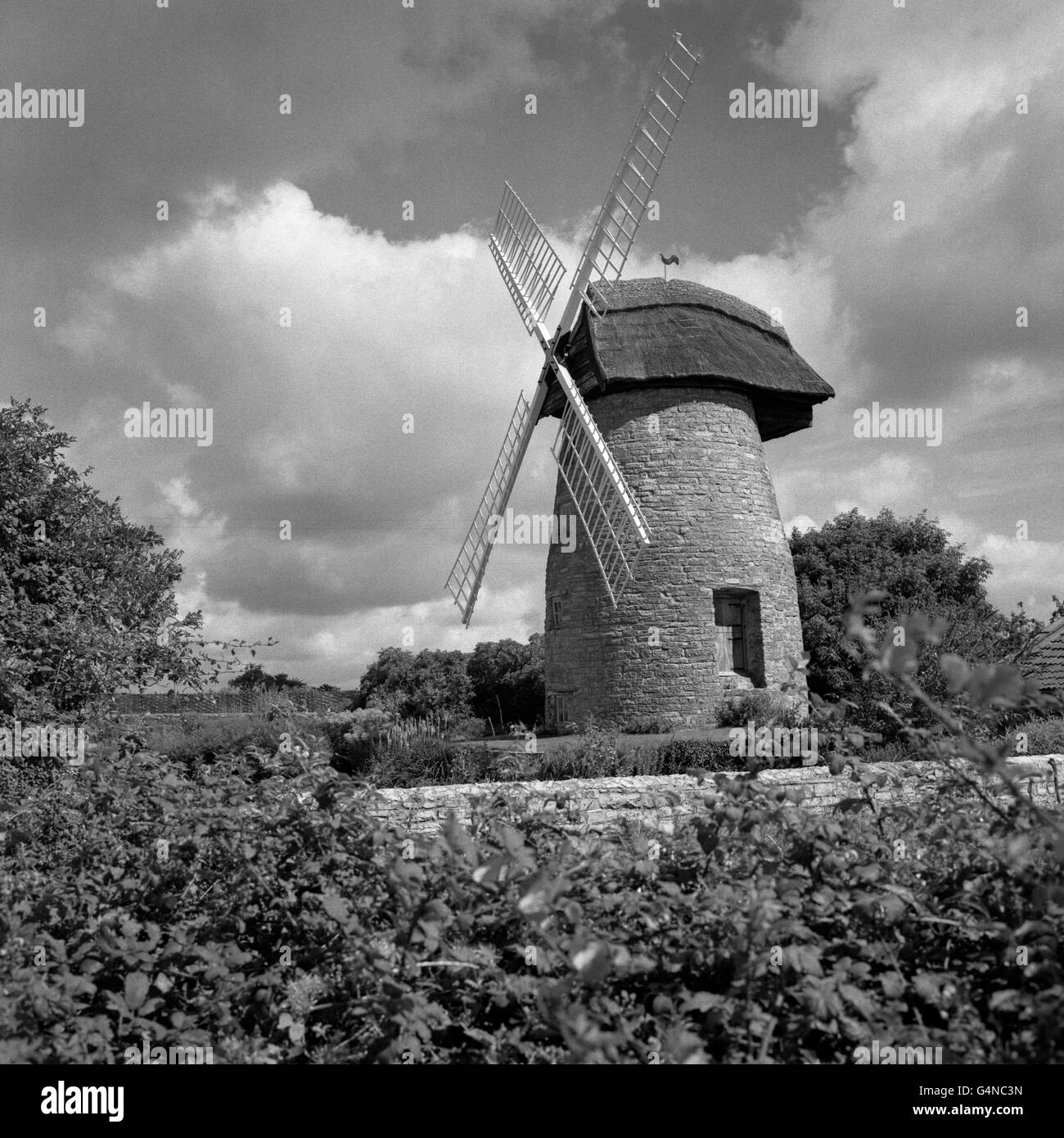 Buildings and Landmarks - Windmills - High Ham - Stock Image