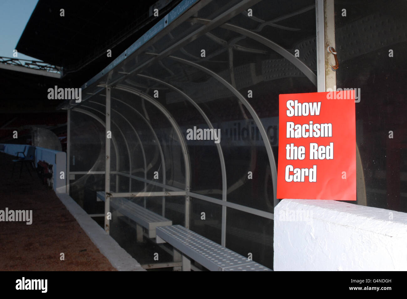 Soccer - Show Racism The Red Card Event - City Ground - Stock Image