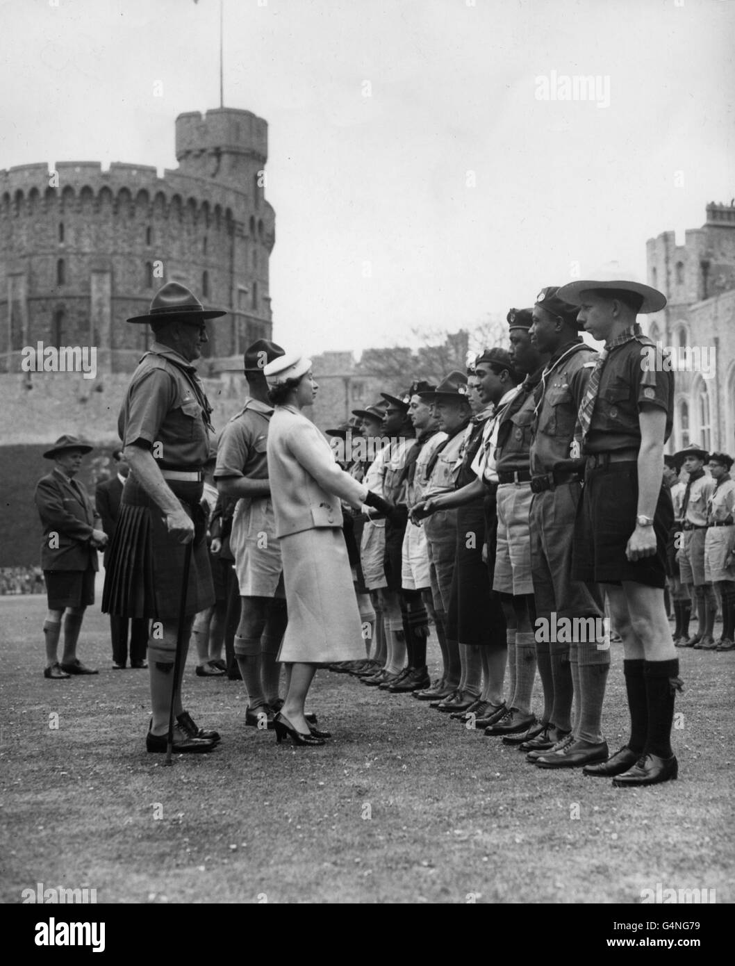 Customs and Traditions - Annual National Scouts' Service - Windsor Castle - Stock Image
