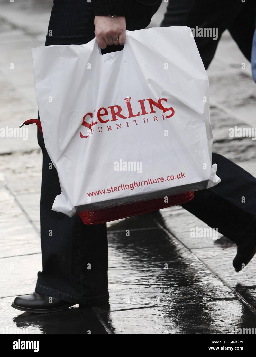 Scottish Retail Consortium announces drop in number of shoppers - Stock Image