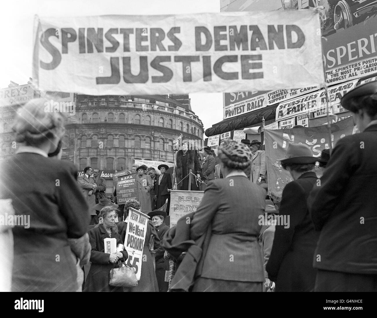 Politics - Protests & Demonstrations - Spinsters Rally - London - Stock Image