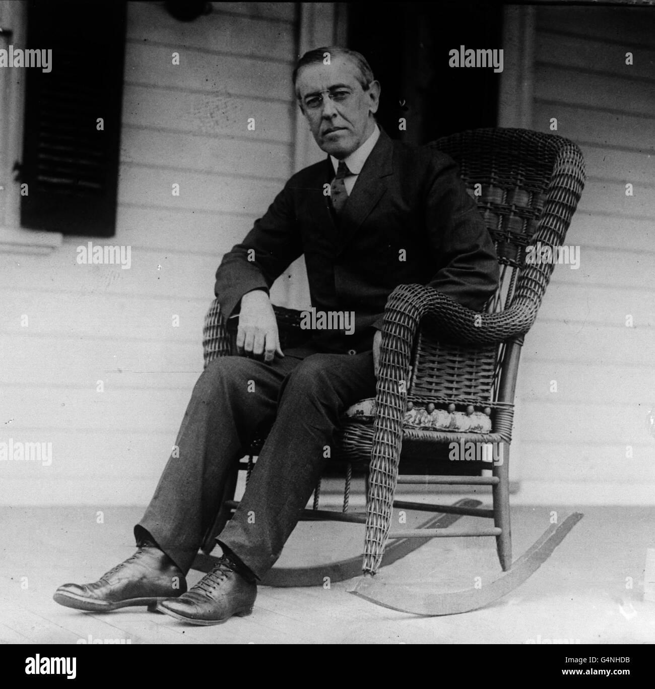 President Woodrow Wilson - Stock Image