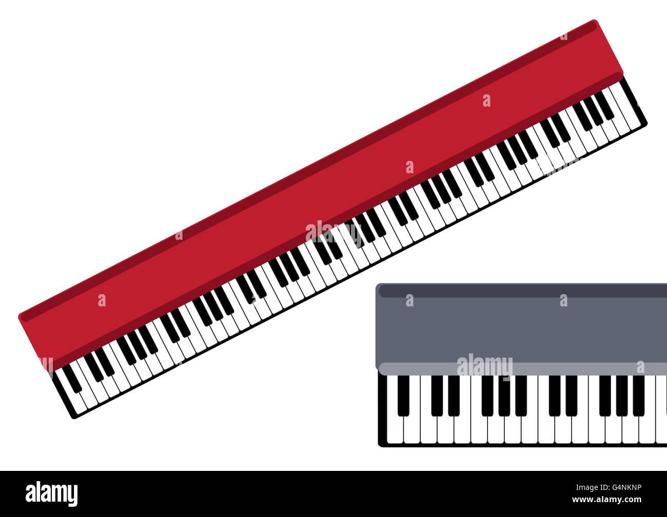 keys of piano vector object - Stock Image