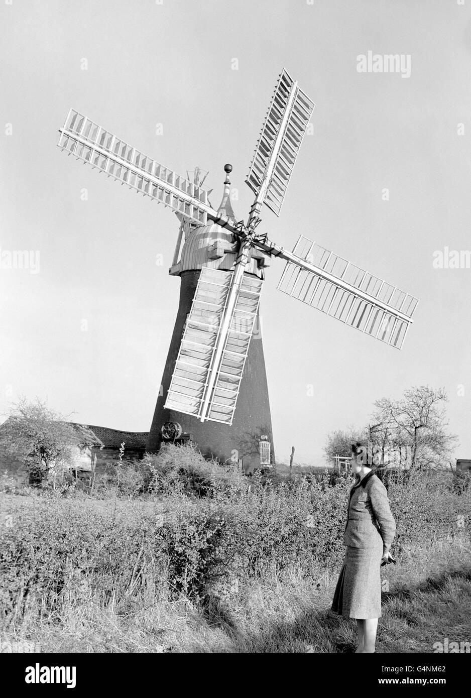 Buildings and Landmarks - Windmills - North Leverton - Stock Image